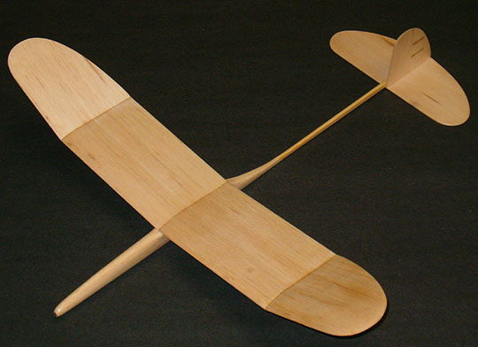 How to make a small balsa wood glider