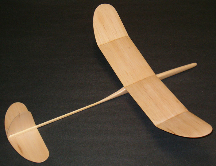 Airfield Models Graupner Mini A Free Flight Balsa Wood Glider
