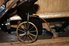Wooden Old Time (Big Wheel) Bicycle Model
