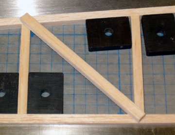 Airfield Models Making Upright And Diagonal Bracing That Fit