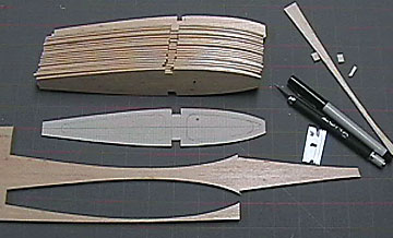 Airfield Models Make Constant Chord Model Airplane Wing Ribs