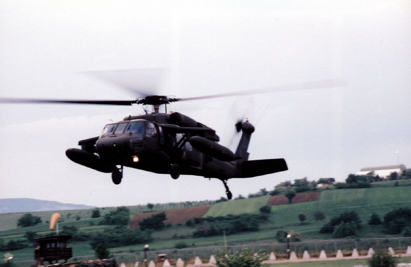 Blackhawk helicopter in action