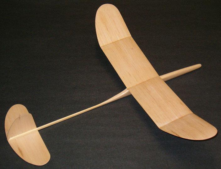 Airfield Models Graupner Mini A Free Flight Balsa Wood